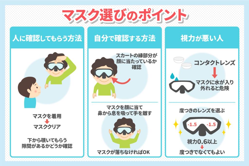 ダイビングのマスク選びは超重要!選び方のコツを伝授